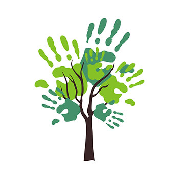 tree-hands illustration